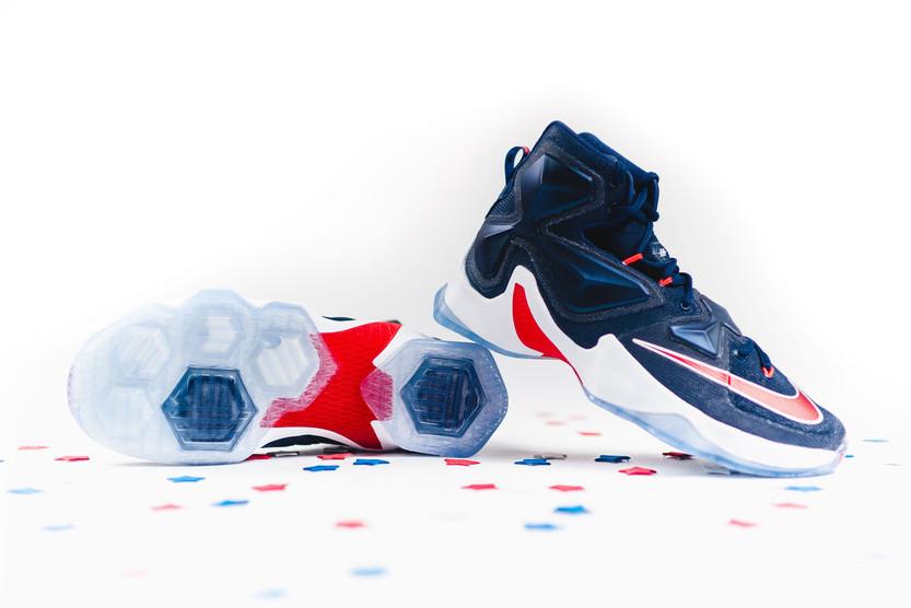 pretty nice 7e415 850ae ... Release Reminder Nike LeBron XIII Team aka USA Basketball ...