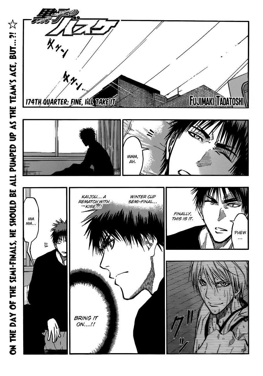 Kuroko no Basket Manga Chapter 174 - Image 01