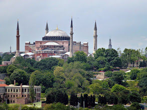 Photo: Hagia Sophia viewed from our ship leaving Istanbul