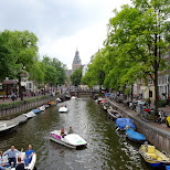 the gorgeous canals of Amsterdam in Amsterdam, Noord Holland, Netherlands