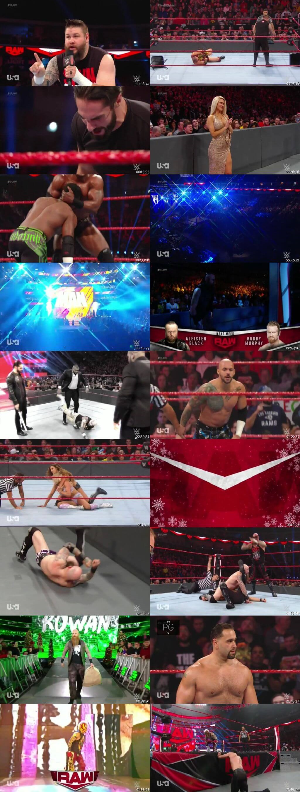 Screen Shot Of Wrestling TV Show WWE Monday Night Raw 23rd December Watch Online Free Download