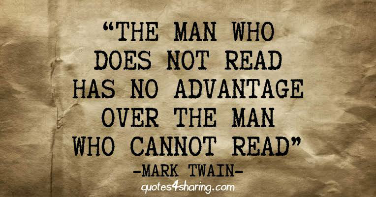 The man who does not read?
