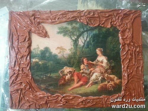 لوحة عالمية ديكوباج على صندوق خشبى من اعمالى