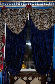 Blue velvet curtains, Casablanca Nights, Pavillion Hotel UK