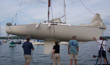 J/22 sailboat- ready to sail on lake in New York