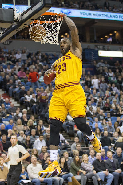 LBJ Sports a New Cavs Look with Striped Outsole LeBron 13 PEs