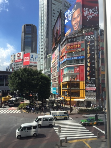 Shibuya crossing in the morning is not as crowded as it is at night. Grab yourself a coffee and sit in the window of Starbucks and watch it get busier as the morning goes on.