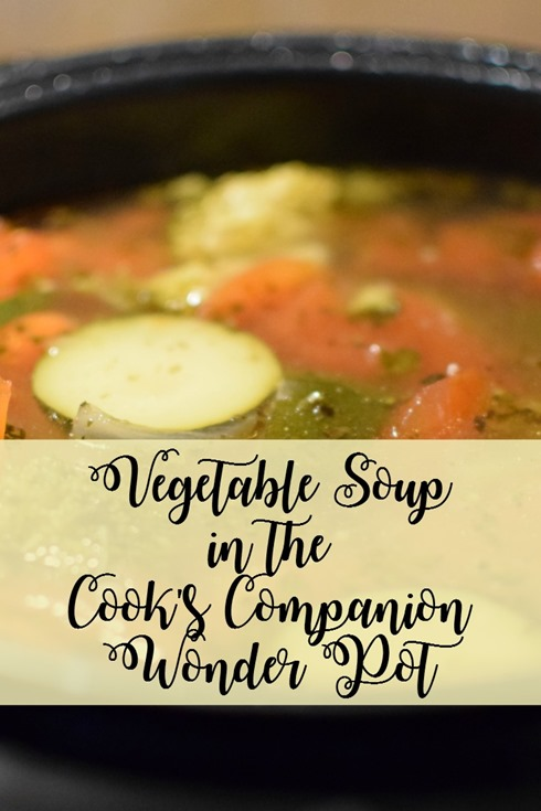 Vegetable Soup in the Cook's Companion Wonder Pot