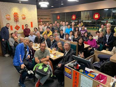 2月17日,李振強一如既往,在「逸棧」招呼同學,新春聯歡。是晚共 49 人出席。