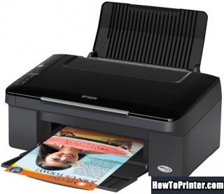 Reset Epson TX113 printer by Epson reset program