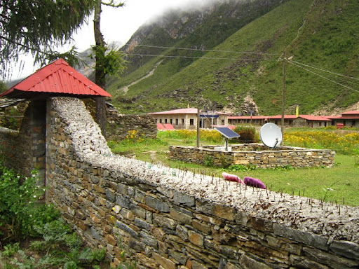 Rachen Nunnery compound, Tsum, Nepal, 2011. Photo courtesy of Kopan Monastery.
