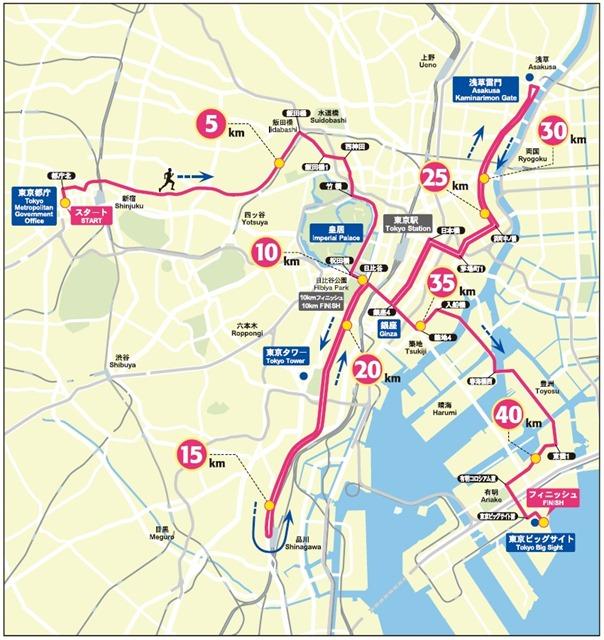 Tokyo Marathon Route 2015