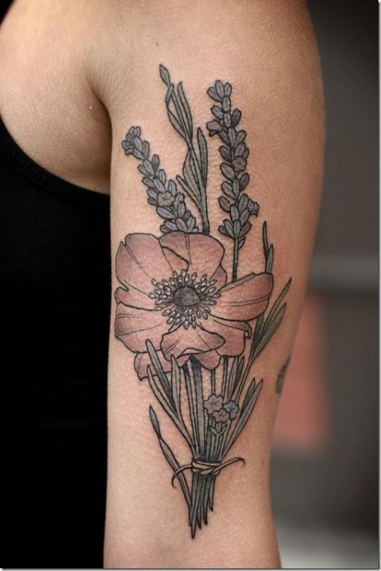 splendide bouquet de fleurs des conceptions de tatouage id es et photos de tatouages. Black Bedroom Furniture Sets. Home Design Ideas