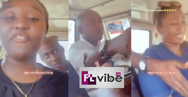 """""""We Don Seize Am"""" - Nigerian Ladies seize Phone of an Elderly Man after he Asked for their Number [Video]"""