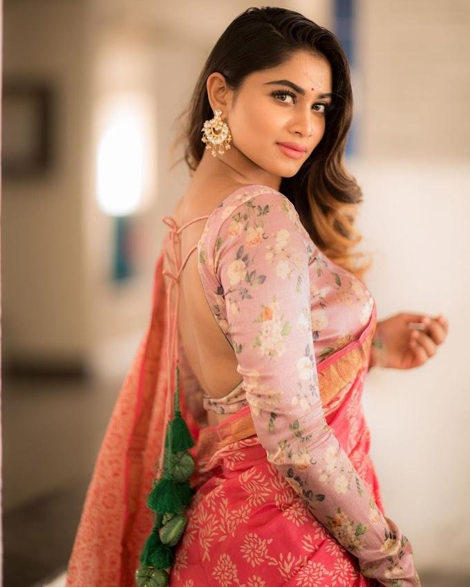 Shivani Narayanan Latest Saree Stills