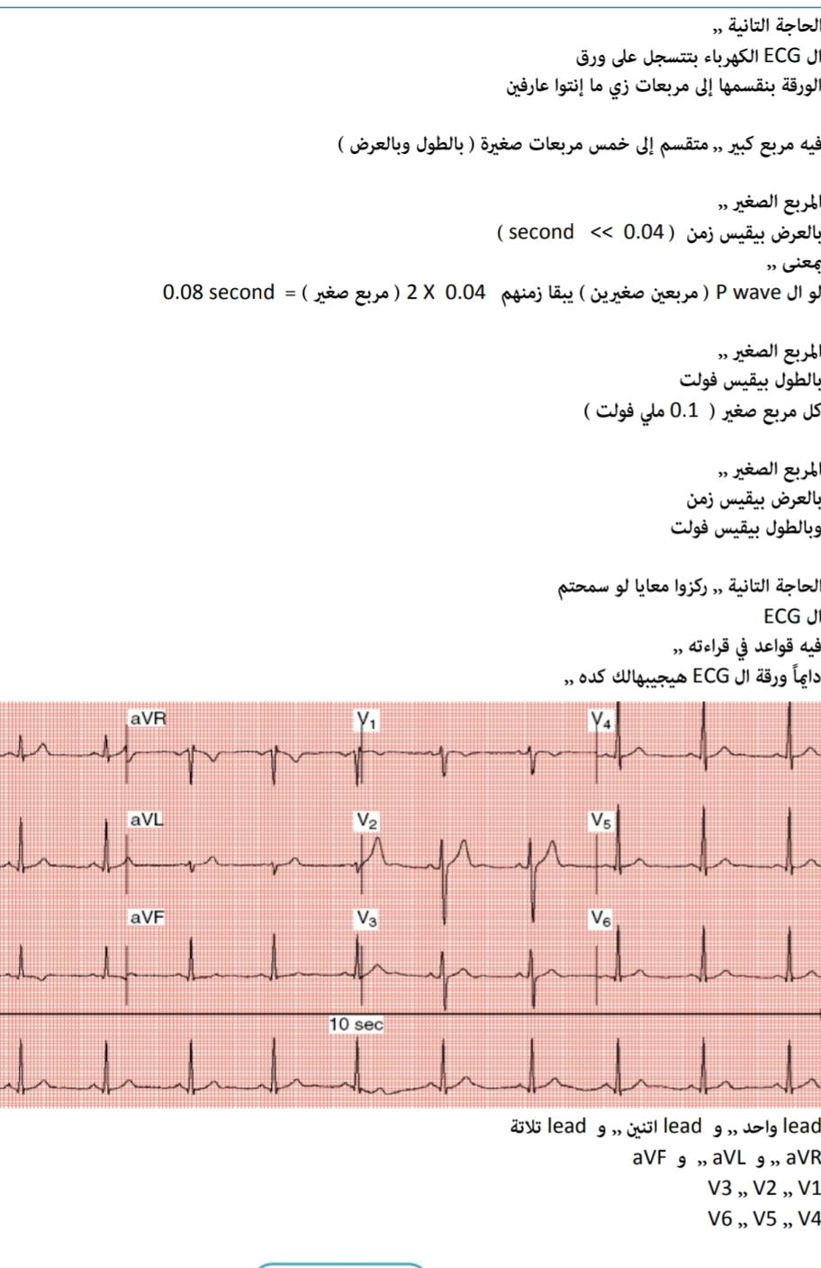 تفريغ الدكتور محمد الشافعى فى رسم القلب