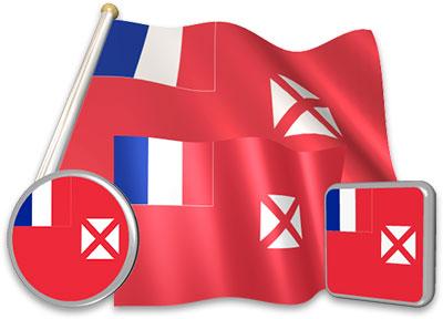 Wallis and Futuna flag animated gif collection