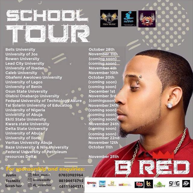 B RED GOES ON CAMPUS TOUR AROUND 23 NIGERIA UNIVERSITY