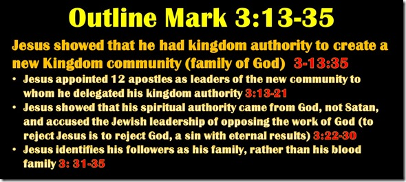 Mark 3.13-35 Outline