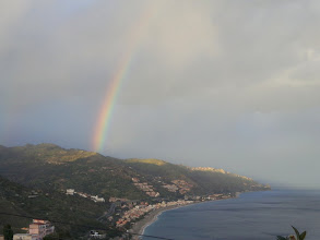 Photo: Bright moment, stormy weather - Monte Scuderi has today' crock of gold