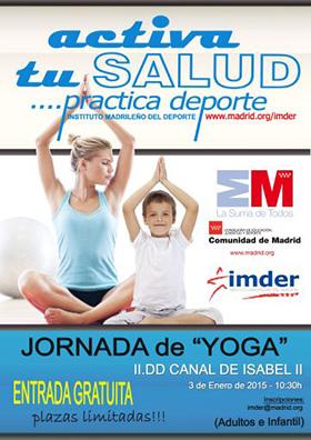 Masterclass de yoga en el Parque Deportivo Puerta de Hierro