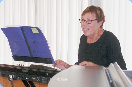 Yvonne Moller playing her Korg Pa3X for us. Photo courtesy of Dennis Lyons.