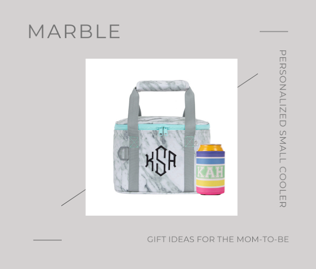 Personalized Small Cooler in Marble from Marleylilly.com