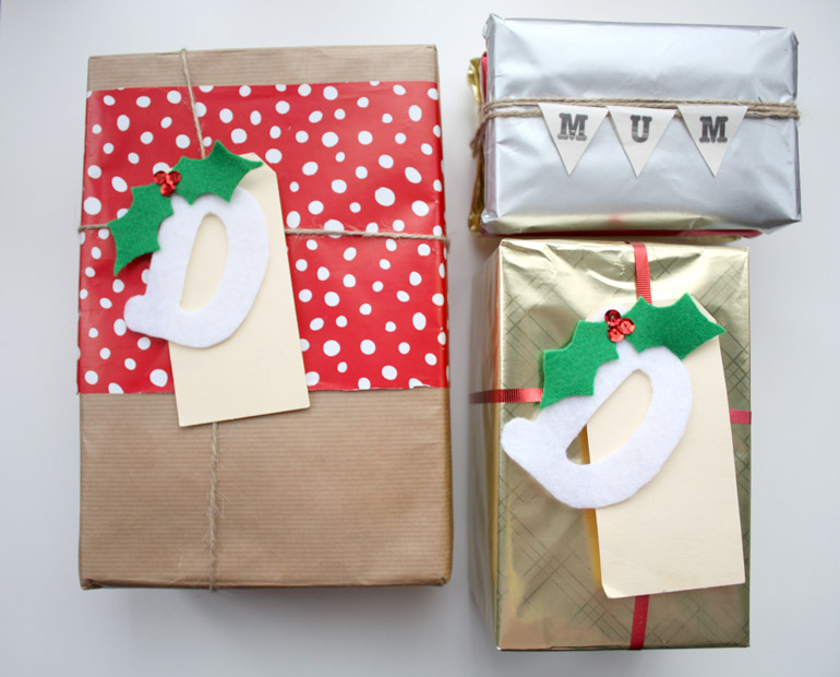 christmas diy custom gift wrapping and tag ideas
