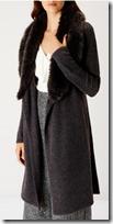 Lana faux fur trim longline cardigan - Coast