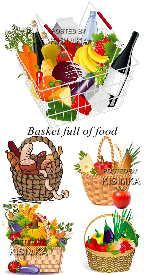 Stock: Basket full of food