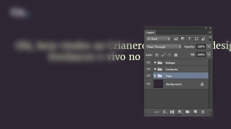 Criando um portfolio minimalista no photoshop
