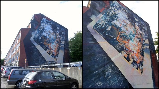 2015-09-21 Druvefors, street art, parking