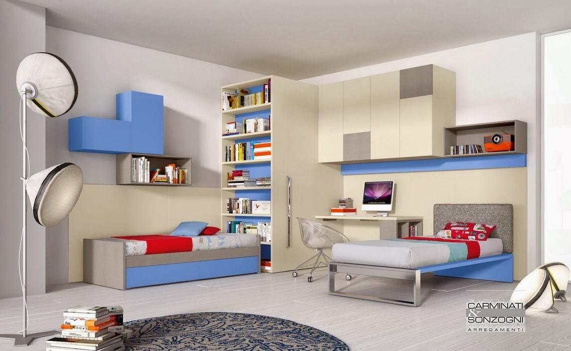 Camerette letti a castello e scrivanie camere per for Libreria per bambini ikea