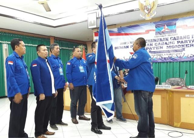 Ayub Busono Kembali Pimpin Partai Demokrat Kabupaten Mojokerto