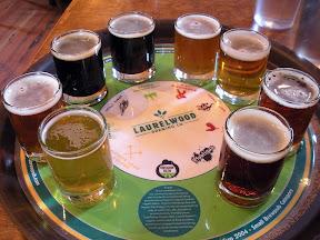 Laurelwood Beer Flight