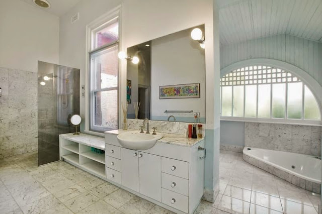 Renovated bathroom at Arden, 1045 Burke Road HAWTHORN EAST
