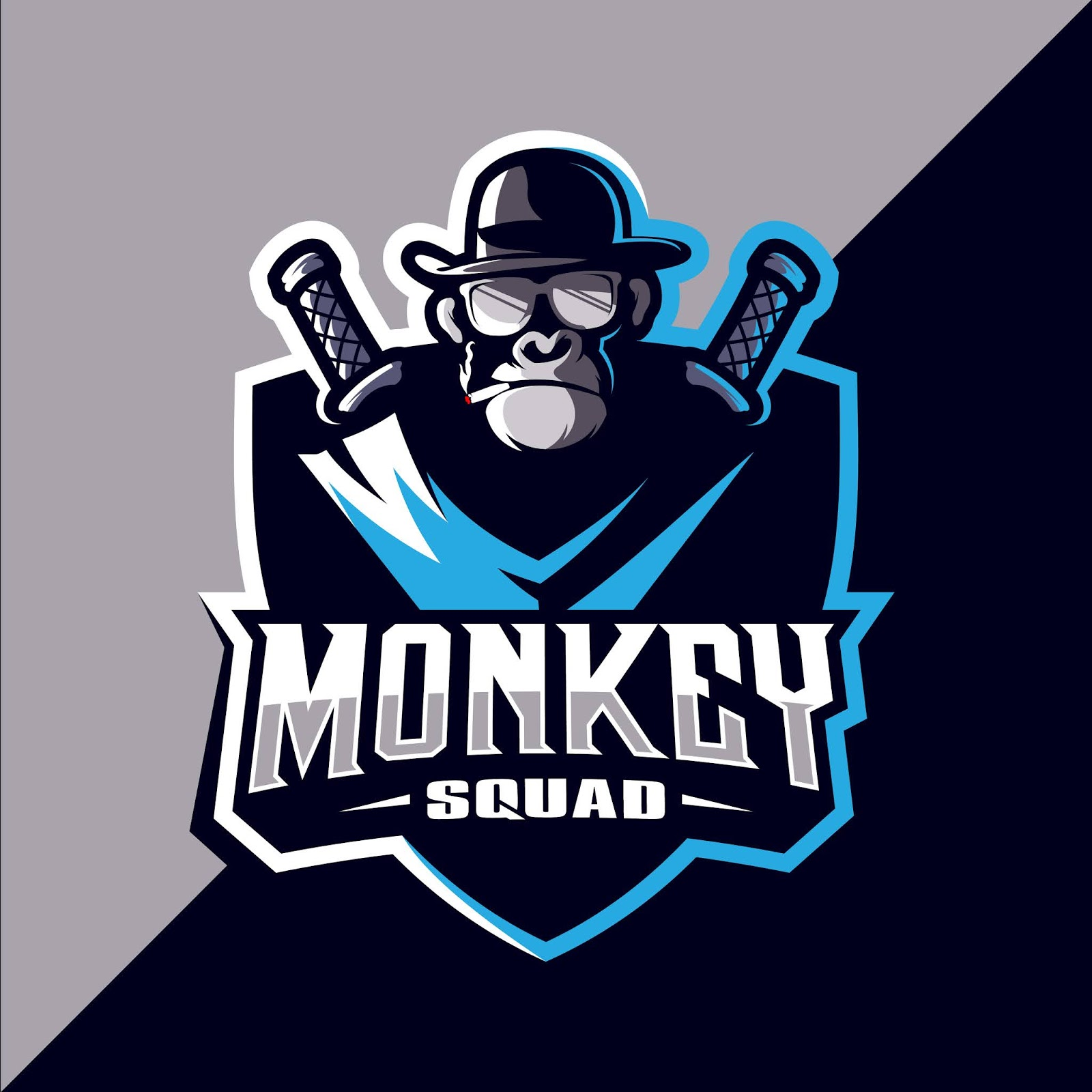 Monkey Esport Mascot Logo Design Free Download Vector CDR, AI, EPS and PNG Formats