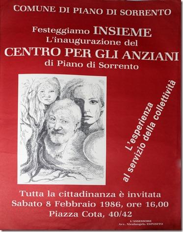 1986 - centro anziani