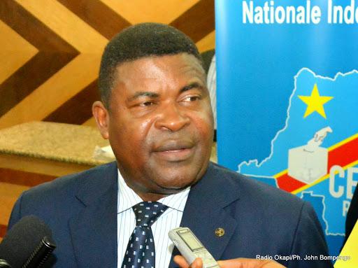 Le rapporteur de la Ceni, Jean-Pierre Kalamba Mulumba N'galula le 27/04/2015 à Kinshasa. Radio Okapi/Ph. John Bompengo