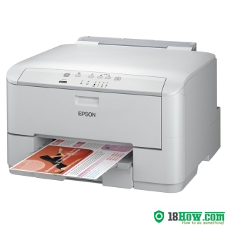 How to reset flashing lights for Epson WorkForce WP-4095DN printer
