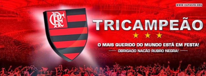 Capas para Facebook Flamengo Tricampeão