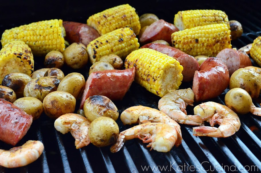 Grilled Shrimp Boil from KatiesCucina.com #grilling #recipe