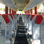 Het interieur van de M.A.N van Connexxion tours bus 209