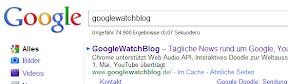 Google Search ohne Unterstreichung