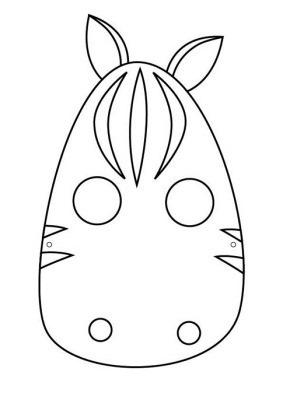 CABALLO mascara de animales  para colorar (20)_thumb