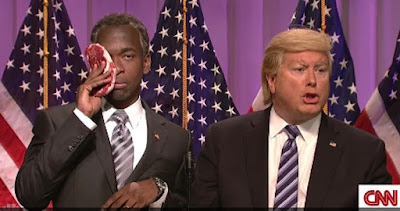 SNL's cold open skewers Ben Carson's endorsement of Donald Trump