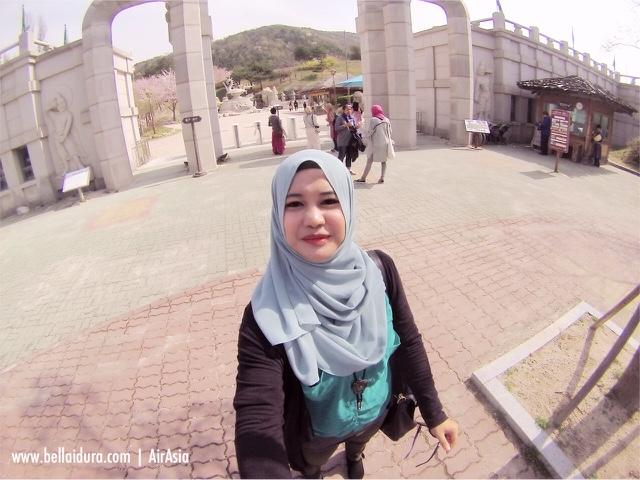 bercuti ke korea, Bella idura, shilla park