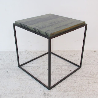 Stone-Top Side Table
