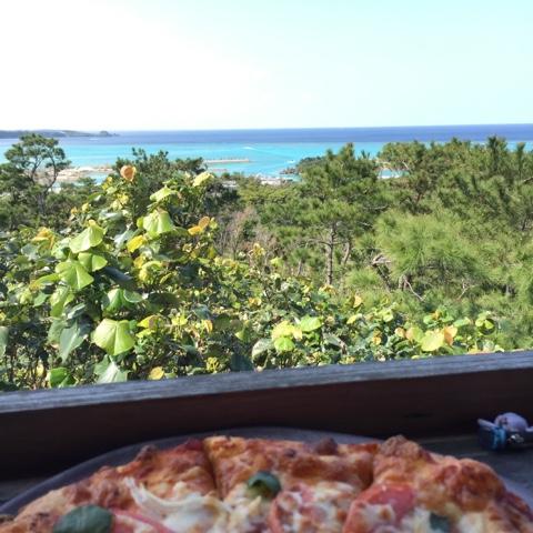 Pizza at cafe doka doka okinawa