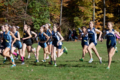 Group a girls start...Erica Canas of old tappan at center